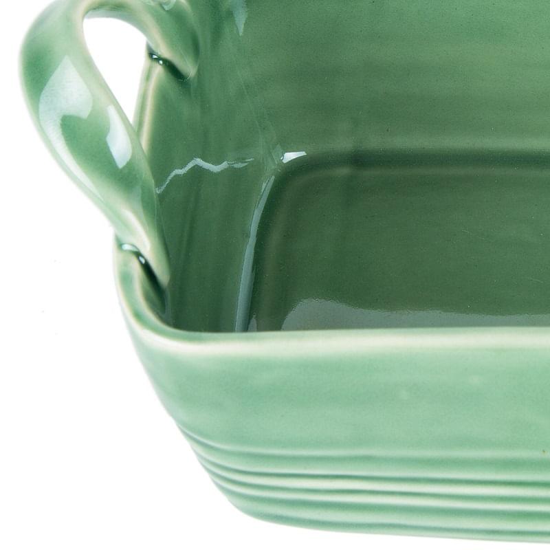 Travessa Retangular Bon Gourmet Ocean em Cerâmica Rojemac Verde