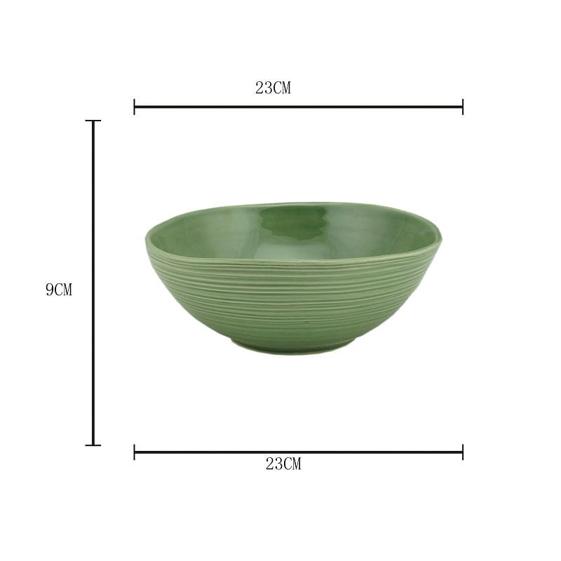 Tigela em Cerâmica Bon Gourmet Ocean 23x9cm Rojemac Verde