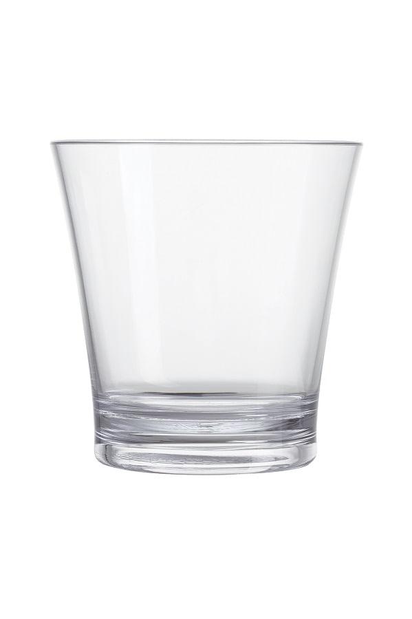 Copo Baixo de Caipirinha em Acrílico 350ml Onix Plastic Transparente