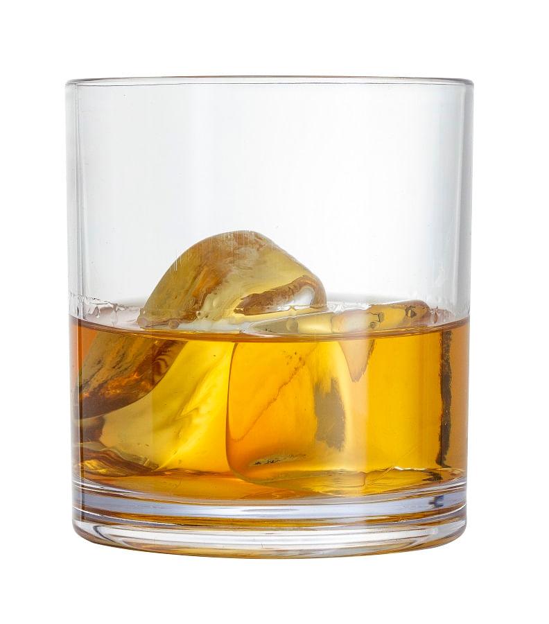 Copo Baixo para Whisky em Acrílico 400ml Onix Plastic Transparente