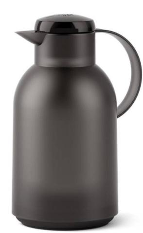 Garrafa Térmica de 1,5L Quick Press Samba Emsa Preta