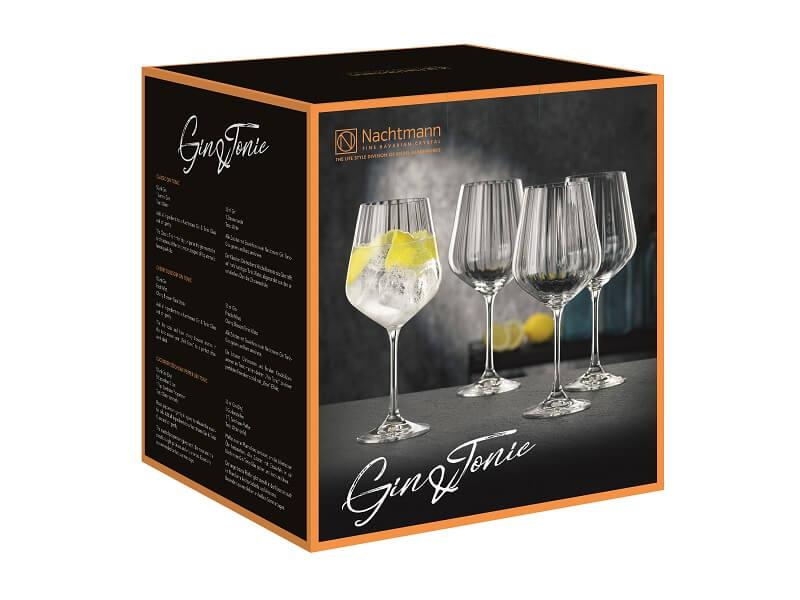 Conjunto de 4 Taças Altas de Vidro para Gin Tônica 637ml Natchmann