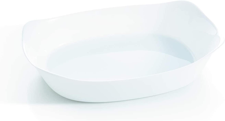 Travessa Retangular de Vidro Smart Cuisine 37x28cm Luminarc Branca