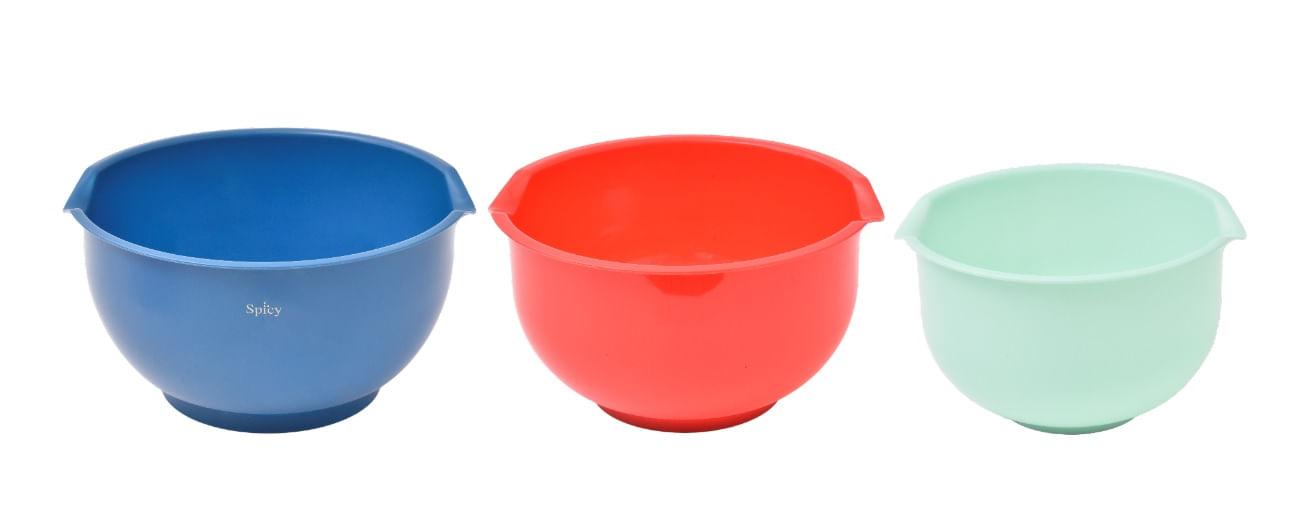 3 Tigelas de Plástico Colors Spicy