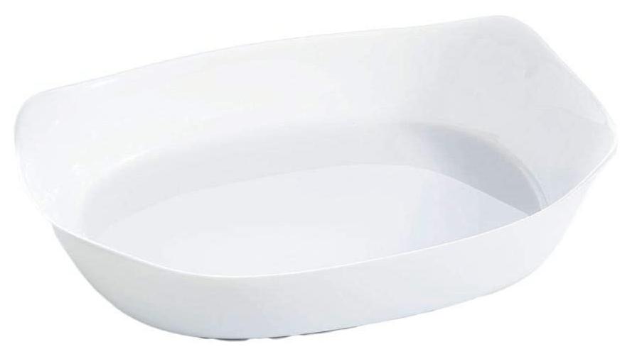 Travessa Retangular de Vidro Smart Cuisine 29x23cm Luminarc Branca
