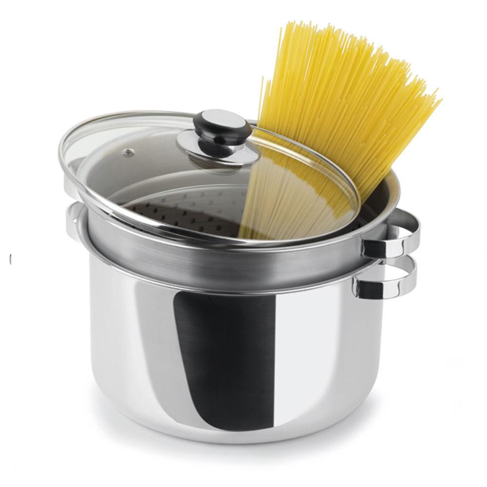 Espagueteira em Aço Inox Firenze 7,2L Forma