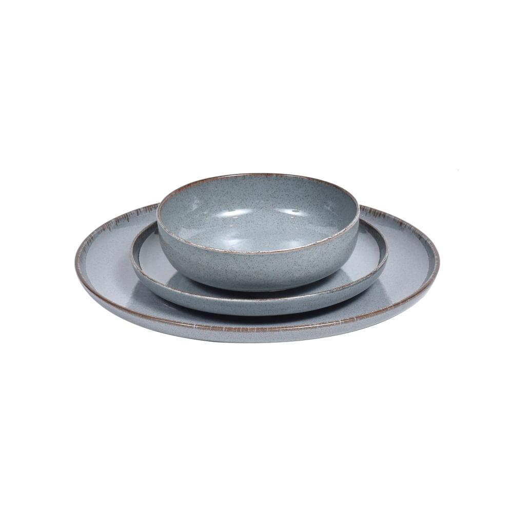 Prato Raso Mood em Porcelana 27cm Spicy Azul